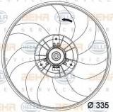 Ventilator, radiator OPEL CORSA D 1.4 - HELLA 8EW 351 034-441, PIERBURG