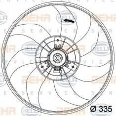 Ventilator, radiator OPEL CORSA D 1.4 - HELLA 8EW 351 034-441 - Ventilatoare auto PIERBURG