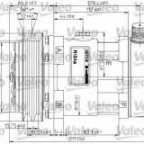 Compresor, climatizare - VALEO 815864