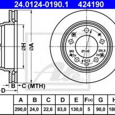 Disc frana PORSCHE 911 3.2 - ATE 24.0124-0190.1 - Discuri frana REINZ