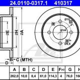 Disc frana HYUNDAI SONATA Mk III 2.7 i V6 - ATE 24.0110-0317.1