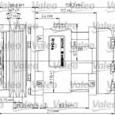 Compresor, climatizare - VALEO 815863 - Compresoare aer conditionat auto