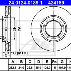 Disc frana PORSCHE 911 3.2 - ATE 24.0124-0189.1 - Discuri frana REINZ