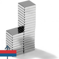 Set 20 buc magneti puternici neodim 10x10x2 neodymium ndfeb