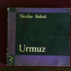 Nicolae Balota Urmuz, edtie princeps