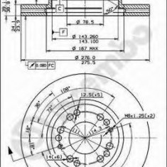 Disc frana MITSUBISHI SIGMA 3.0 V6 - BREMBO 09.7939.10 - Discuri frana