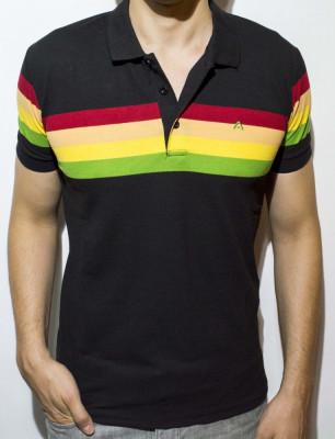 Tricou - tricou cu dungi tricou negru tricou polo tricou slim - cod 47 foto