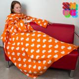 LIVRARE Pătură Cu Mâneci Adulţi Extra Pufoasă Snug Snug Modele Originale (FĂrĂ ambalaj)