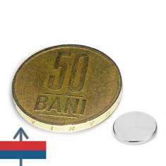 Magnet neodim disc 8x1 mm subtire dar puternic neodymium