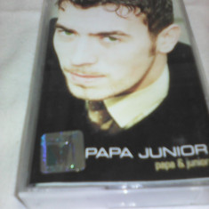 CASETA AUDIO PAPA JUNIOR-PAPA&JUNIOR RARITATE!!! ORIGINALA - Muzica Dance, Casete audio