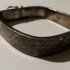 Bratara argint art nouveau Franta 1900 patrata si lata executata manual Superba