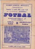 Program meci fotbal  OTELUL GALATI - UNIVERSITATEA CRAIOVA 12.04.1987
