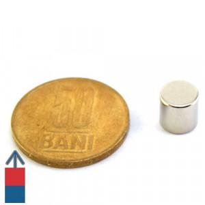 Magnet neodim puternic cilindru 8x8 mm neodymium ndfeb