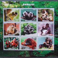 BHUTAN 2016 - MAIMUTE, 1 M/SH NEDANTELATA, NEOBLIT, POSTA PRIVATA - PP 1193 - Timbre straine, Nestampilat