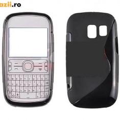 Husa Nokia Asha 302 TPU S-LINE Black - Husa Telefon Nokia, Negru, Gel TPU, Fara snur, Carcasa