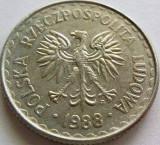 Moneda 1 Zlot - POLONIA, anul 1988 *cod 3081 Allu- vF, Europa, Aluminiu