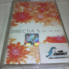 CASETA AUDIO DIRECTIA 5 - DE 10 ANI RARITATE!!! ORIGINALA - Muzica Pop, Casete audio