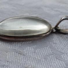 Medalion argint Lacrima deosebit Vechi executat manual Vintage Finut de Efect - Pandantiv argint