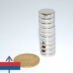 Magnet neodim puternic disc 15x3 mm neodymium ndfeb