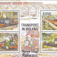 Transporturi, locomotive cu abur, istorie, Irlanda. - Timbre straine, Nestampilat