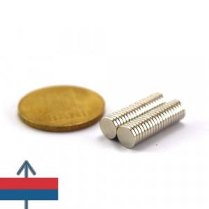 Magnet puternic neodim disc 6x1 mm neodymium ndfeb experimente magnetice