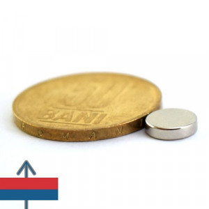 Magnet neodim puternic disc 8x2 mm neodymium ndfeb