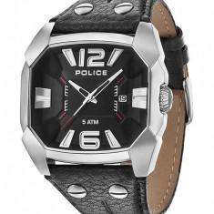 Ceas Police Smasher PL-14190JS-02 - Ceas barbatesc Police, Casual, Quartz, Piele, Data, Analog