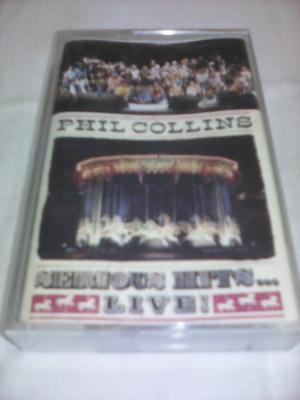 CASETA AUDIO PHIL COLLINS SERIOUS HITS LIVE RARITATE!!!! foto