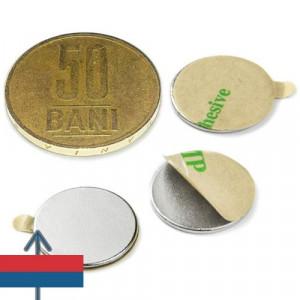 Magnet neodim puternic adeziv disc 15x2 mm neodymium