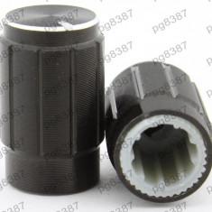 Buton pentru potentiometru, 10mm, aluminiu, 10x16mm - 127524