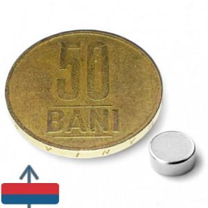 Magnet neodim puternic disc 6x2 mm