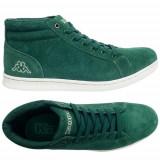 40,44,46_adidasi originali inalti barbati KAPPA_piele naturala_in cutie, Verde, Piele naturala, Kappa