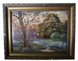 Tablou goblen , Peisaj , 70 x 51 cm