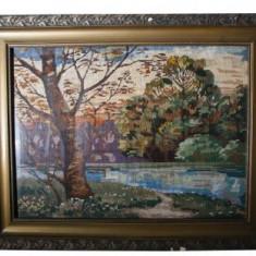 Tablou goblen, Peisaj, 70 x 51 cm - Tapiterie Goblen