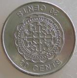 INSULELE SOLOMON KM#236 - 20 Cents 2012 UNC, Australia si Oceania