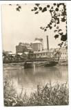 @carte postala(ilustrata)-ALBA-Ocna Muresului-Uzina de produse sodice, Circulata, Fotografie