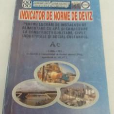 INDICATOR DE NORME DE DEVIZ PENTRU LUCRĂRI DE INSTALAȚII DE ALIMENTARE CU APĂ - Carti Constructii