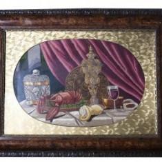 Tablou goblen , Natura moarta (rama deosebita) , 82 x 56 cm