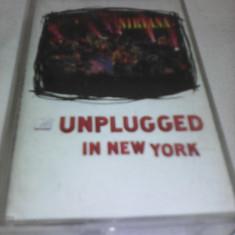 CASETA AUDIO NIRVANA MTV UNPLUGGED IN NEW YORK RARITATE!!!! ORIUGINALA - Muzica Rock, Casete audio