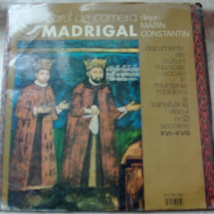 LP: CORUL MADRIGAL-DOCUMENTE ALE CULTURII MUZICALE VOCALE IN ROMANIA/VOL.2(1977), VINIL