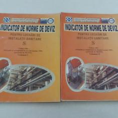 INDICATOR DE NORME DE DEVIZ PENTRU LUCRĂRI DE INSTALAȚII SANITARE/ 2VOL/ 2002 - Carti Constructii