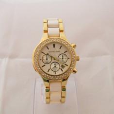 Ceas Dama Michael Kors Gold White Silver Edition Elegant + Cutie cadou, Quartz, Inox, Analog
