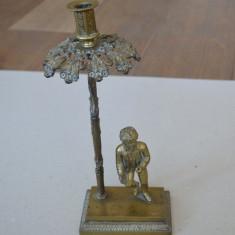 Sfesnic de bronz cca 1830 - Metal/Fonta