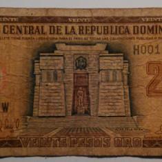 Republica Dominicana - 20 Pesos Oro 1998 - bancnota america