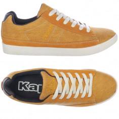 Adidasi originali barbati KAPPA- din panza-cu piele- casual- in cutie-42 - Adidasi barbati Kappa, Culoare: Orange, Textil
