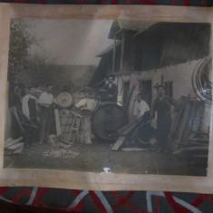 Afis probabil anii 1920 1930 constructori de butoaie dim 40x30cm