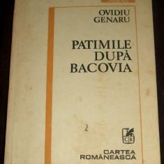 Ovidiu Genaru - Patimile dupa Bacovia (1986), antologie poezii + inedite