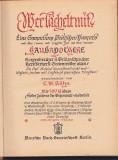 C. M. KOHN - WER TACHELT MIT ( 1939 ) ( IN GERMATA - GOTICA )