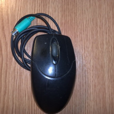 Mouse optic Genius fir PS/2 negru, Optica, Sub 1000