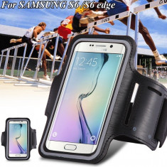 Armband husa brat / mana pt telefon alergat / sala pt Samsung S4 S5 S6 S6 Edge, Samsung Galaxy S6, Negru